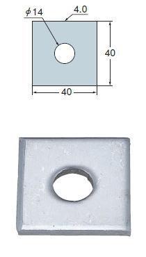 タナカ ステンレス 角座金 □(40×40) AB2454(500入1ケース)