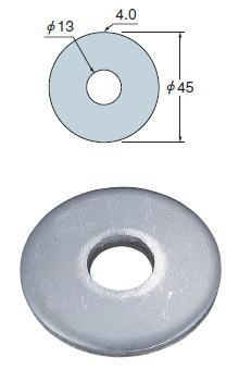 タナカ ステンレス 丸座金 ○(Φ45) AB2445(500入1ケース)
