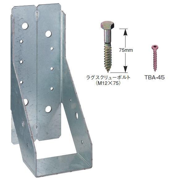 タナカ 内折り梁受け金物 105巾×300 AA406(10入1ケース)