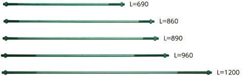カナイ 高耐力50両ねじボルト M16×890 200-2007(10入1ケース)