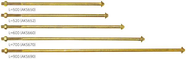 カナイ 笠型アンカーボルト M16×900 AKS690 000-8009(15入1ケース)