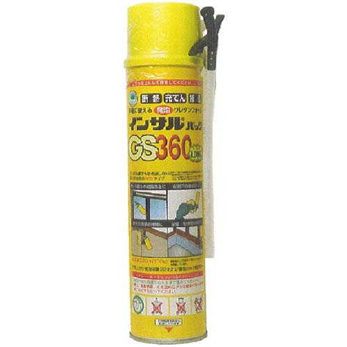 (12本入) ABC商会 インサルパック GS-360ロング(発泡ウレタン) 570g