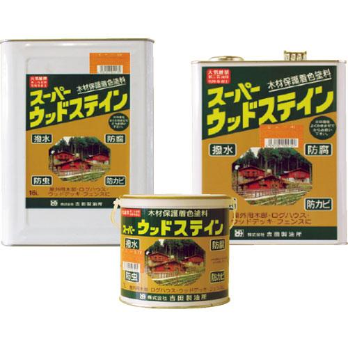 【個人宅配送不可商品】吉田製油所 4L×4缶セット スーパーウッドステイン オリーブ ※メーカー直送品