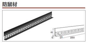 「代引不可商品」(40本入) タカヤマ金属 防鼠材 グレー MK-01 KBA0080