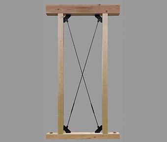 タナカ オメガメタルブレース(壁用・水平用) AAセット(水平用) 1,610mm~2,030mm ※メーカー直送品
