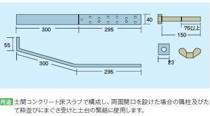 Cマーク金物(C) 帯金物ストラップアンカ SA-65 (50入1ケース)(釘付)※