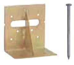 Cマーク金物(C) まぐさ受金物 LH-204 (50入1ケース)(釘付)※
