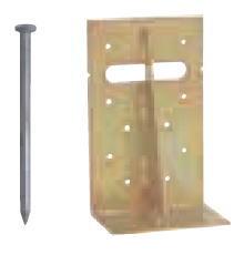 Cマーク金物(C) まぐさ受金物 LH-206 (50入1ケース)(釘付)※