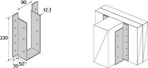 Cマーク金物(C) 山菱 オリジナル BHH-410 (20入1ケース)(釘付)