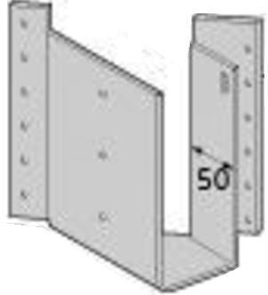 Cマーク金物(C) 梁受け金物 BHS2-210R (10入1ケース)(釘付)※