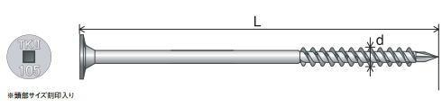 タルキック2 TK5×1652(100本×6箱)(旧180)