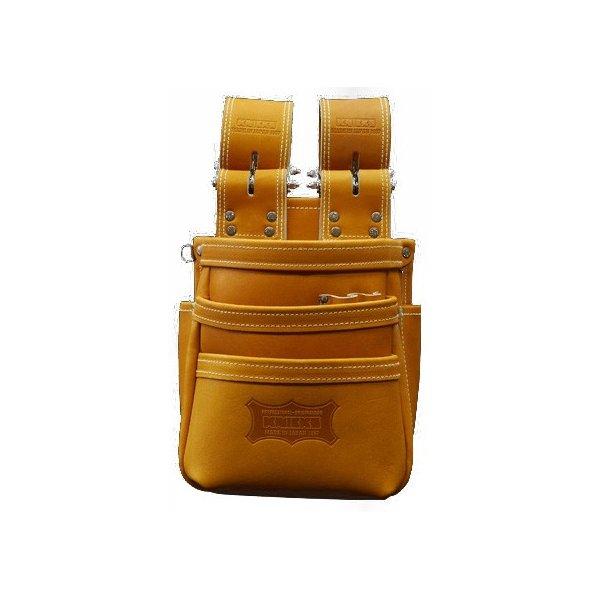 ニックス KGC-301DDX 最高級硬式グローブ革チェーンタイプ3段腰袋(キャメル)