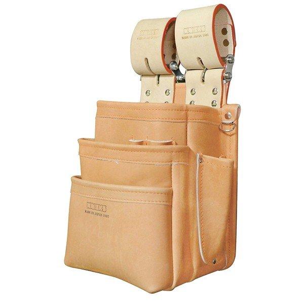 ニックス KN-301SPDX 自在型チェーンタイプ総グローブ革3段腰袋