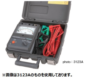 共立電気計器 高圧絶縁抵抗計 キューメグ KEW 3121A ハードケース付