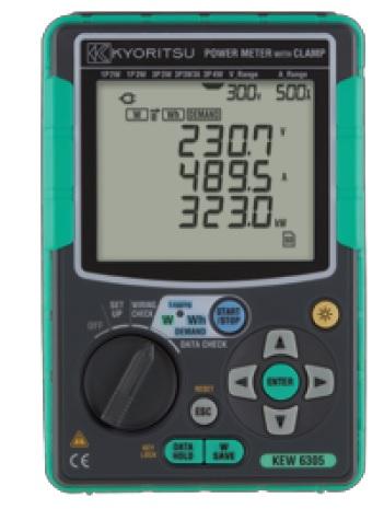 共立電気計器 電力計 コンパクトパワーメータ KEW 6305 クランプセンサ別売 キャリングバック付