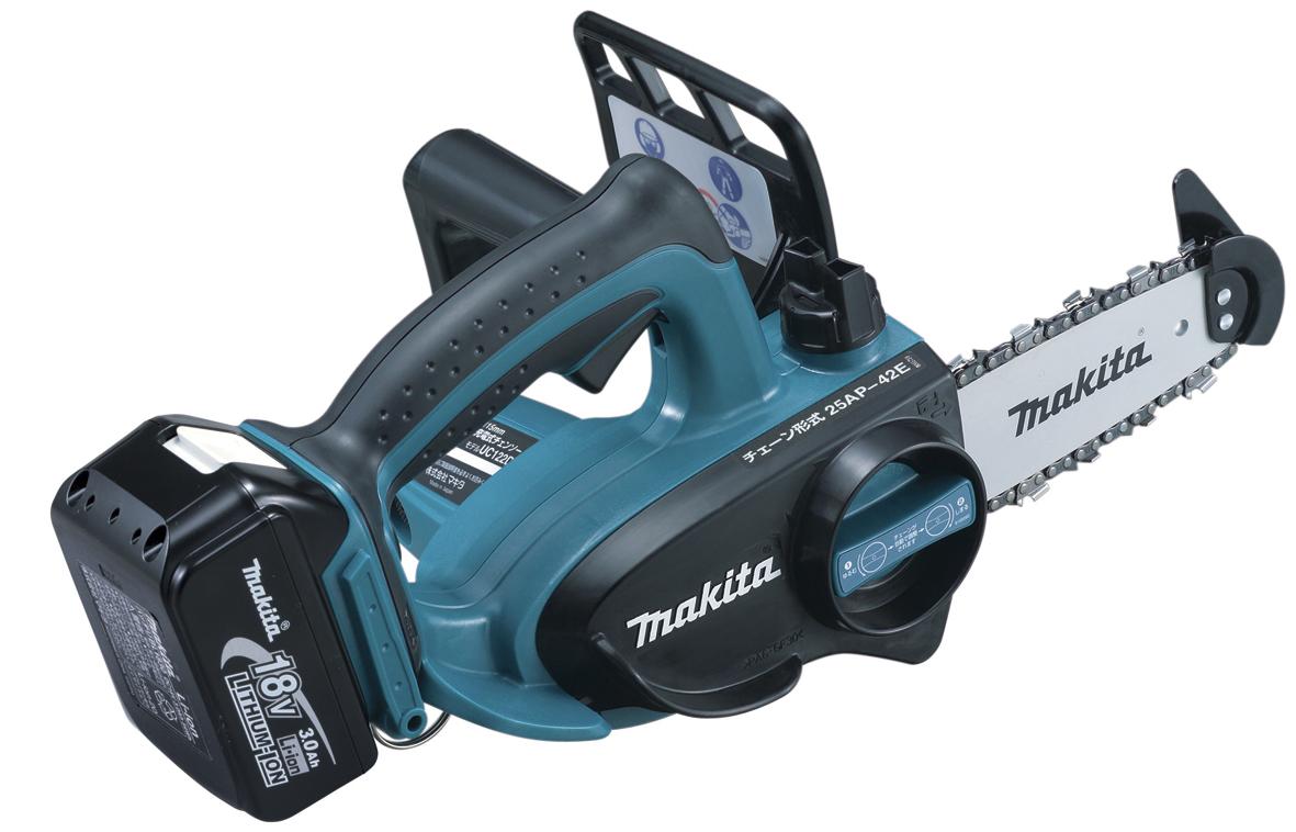 【マキタ MAKITA】 UC122DRF 18V 充電式チェンソー バッテリー、充電器、ケース付 115mm チェーンソー