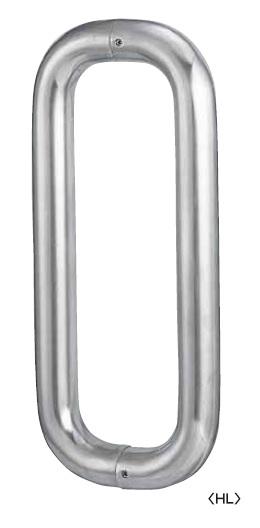 丸喜金属 G-350 601 HL色 ステンレスO型ハンドル 両面用 27Φ サイズ:600 1組