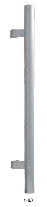 丸喜金属 ST-1000501 HL色 ステンレス丸棒ドアーハンドルT型 サイズ:500 1組