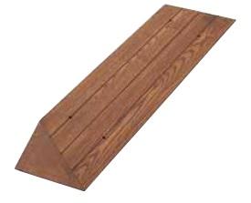 丸喜金属 ZW-509L500 ブラウン サイズ:50×155×1200 段差スロープ 1本