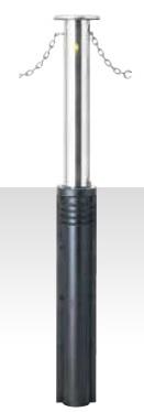 MEDOMALK メドーマルク J-11CN 上下式ポール(キャップ付) Φ114.3 ステンレス製 クサリ内蔵