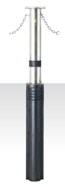 MEDOMALK メドーマルク J-11CNG 上下式ポール(キャップ付) Φ114.3 ステンレス製 クサリ内蔵・スプリング付