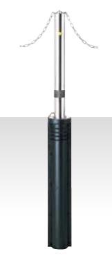 MEDOMALK メドーマルク JN-8G 上下式ポール(キャップレス) Φ76.3 ステンレス製 クサリ頭部通し・スプリング付