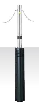 MEDOMALK メドーマルク JN-8CNG 上下式ポール(キャップレス) Φ76.3 ステンレス製 クサリ内蔵・スプリング付