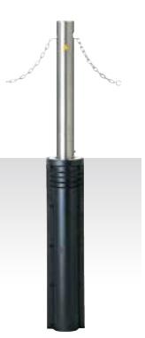 MEDOMALK メドーマルク JN-11CN 上下式ポール(キャップレス) Φ114.3 ステンレス製 クサリ内蔵