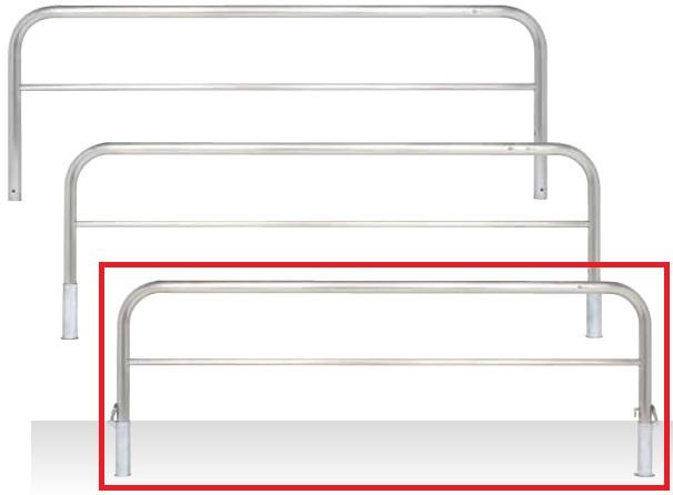 MEDOMALK メドーマルク S6B-25SK ゲートタイプ 車止め 横桟付 ステンレス製 Φ60.5 差込式フタ付・南京錠付 受注生産 ※