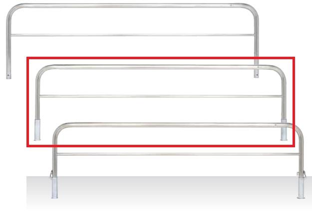 MEDOMALK メドーマルク S6B-30S ゲートタイプ 車止め 横桟付 ステンレス製 Φ60.5 差込式 受注生産 ※