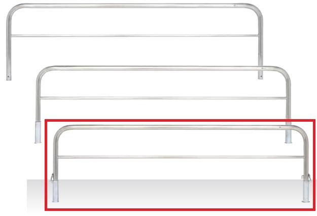 MEDOMALK メドーマルク S6B-30SK ゲートタイプ 車止め 横桟付 ステンレス製 Φ60.5 差込式フタ付・南京錠付 受注生産