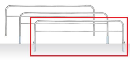 MEDOMALK メドーマルク HS6B-30SK ゲートタイプ 車止め 横桟付 ステンレス製 Φ60.5 差込式フタ付・南京錠付 受注生産