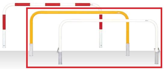 MEDOMALK メドーマルク F6-20S ゲートタイプ 車止め 鉄製 Φ60.5 差込式 白/黄