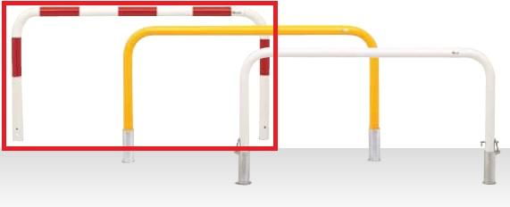 MEDOMALK メドーマルク F8-20 ゲートタイプ 車止め 鉄製 Φ76.3 固定式 赤白2色 受注生産