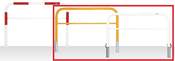 MEDOMALK メドーマルク HF6B-15SF ゲートタイプ 車止め 鉄製 横桟付 Φ60.5 差込式フタ付 白/黄 納期問い合わせ