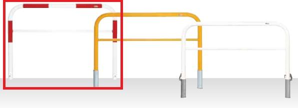 MEDOMALK メドーマルク HF6B-15SF ゲートタイプ 車止め 鉄製 横桟付 Φ60.5 差込式フタ付 赤白2色 納期問い合わせ