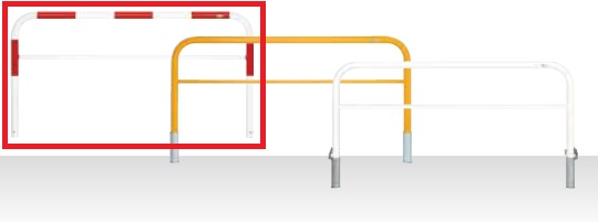 MEDOMALK メドーマルク HF6B-20SK ゲートタイプ 車止め 鉄製 横桟付 Φ60.5 差込式フタ付・南京錠付 赤白2色 納期問い合わせ ※