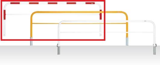 MEDOMALK メドーマルク HF6B-30 ゲートタイプ 車止め 鉄製 横桟付 Φ60.5 固定式 赤白2色 納期問い合わせ ※