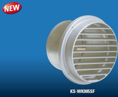 キョーワナスタ ロングフード 平型ベントキャップ KS-WK005SF250-SV φ250mm 72℃防火ダンパー付き 受注生産