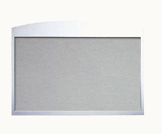 キョーワナスタ KS-TS-HB3906S 掲示板 ステンレス ビニールレザー貼 グレー 960×600 受注生産 ※