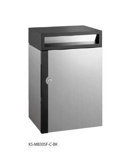 史上一番安い ポスト 投入口:ブラック:家づくりと工具のお店 家ファン! 壁付け/大容量タイプ/防滴タイプ ディンプル錠 KS-MB30SW-C-BK キョーワナスタ-エクステリア・ガーデンファニチャー