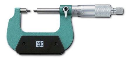 新潟精機 SK 測定工具 MC200-25SA 151461 スプラインマイクロメータ