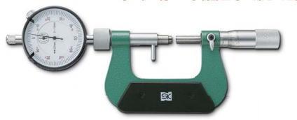 新潟精機 SK 測定工具 MC204-25DG 151490 ダイヤルゲージ付マイクロメータ
