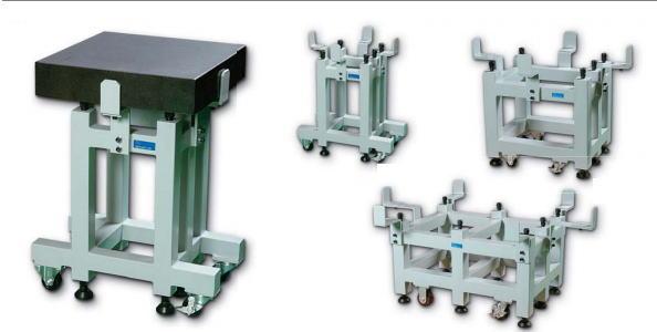 新潟精機 SK 測定工具 GT-75100W 151164 石定盤架台(ブレ止めアーム付タイプ) ※