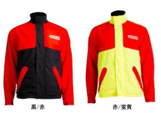 オレゴン 防護ジャケット ワイポア 295468(黒赤)/295471(赤黄) S/M/L/XLサイズ