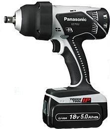 パナソニック 充電インパクトレンチ【EZ7552 LJ2S-H(グレー)】【18V 5.0Ah】(ケース、充電器、電池2個付)