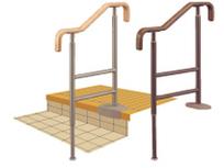 アロン化成 安寿 上がりかまち用手すり SM-650L 玄関の上がり框に 木製握りバー H700~800