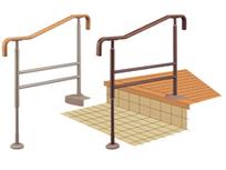 アロン化成 安寿 上がりかまち用手すり SM-950F 玄関の上がり框に 木製握りバー H700~800
