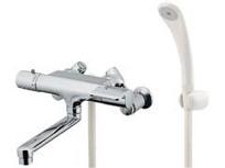 カクダイ サーモスタットシャワー混合栓(回転クランク使用) 174-370