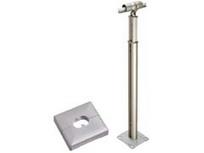 積水樹脂 アプローチEレール コーナー支柱 ベースプレート式 カバー付 手すり支柱